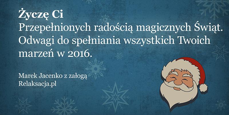 Magicznych Świąt Bożego Narodzenia!