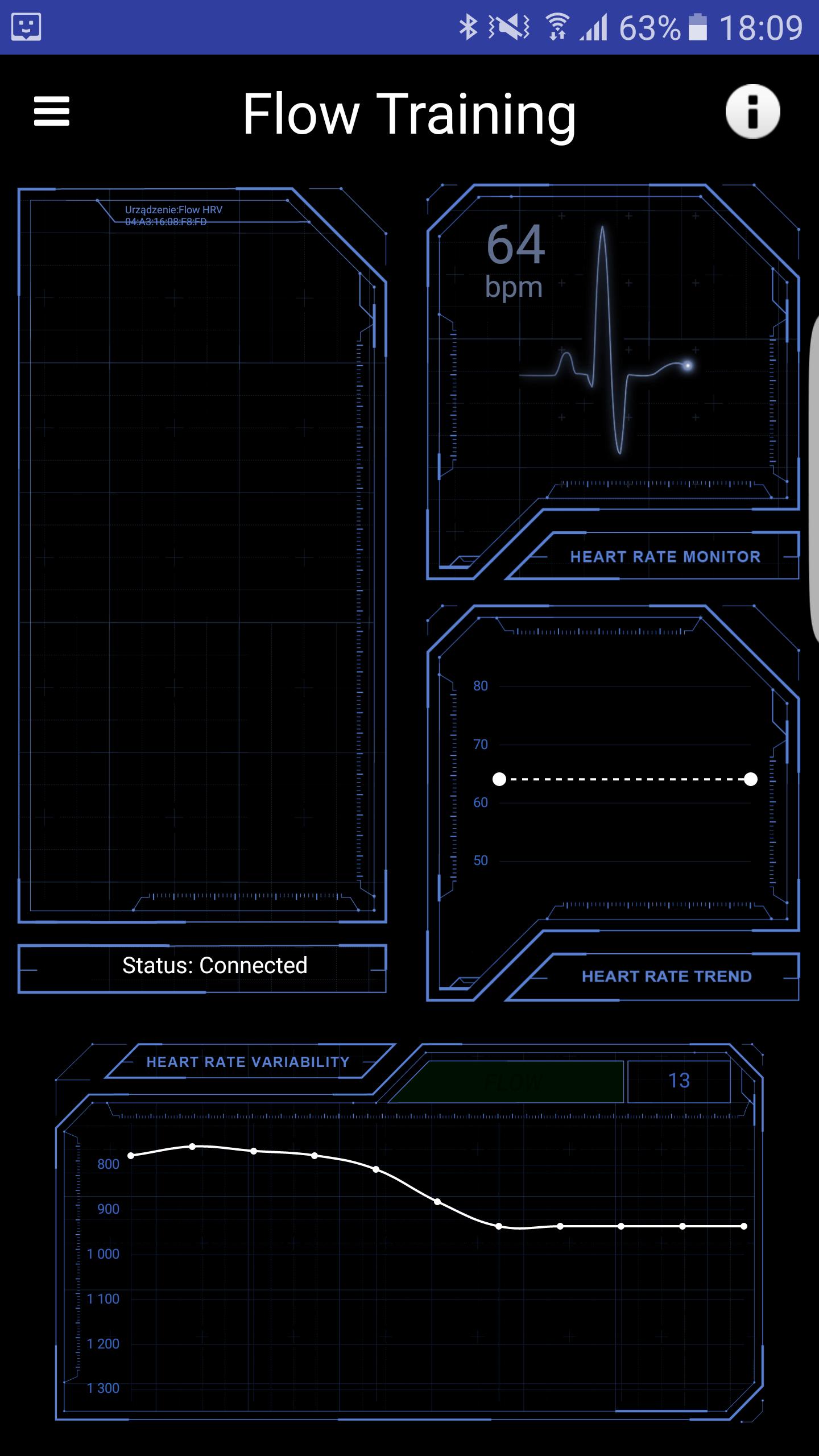 Biofeedback na Androida HRV