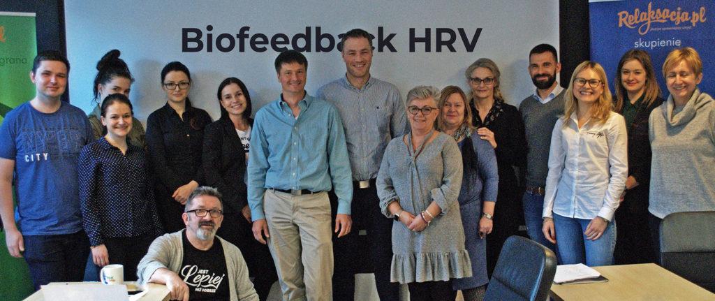 Uczestnicy szkolenia biofeedback z Markiem Jacenko