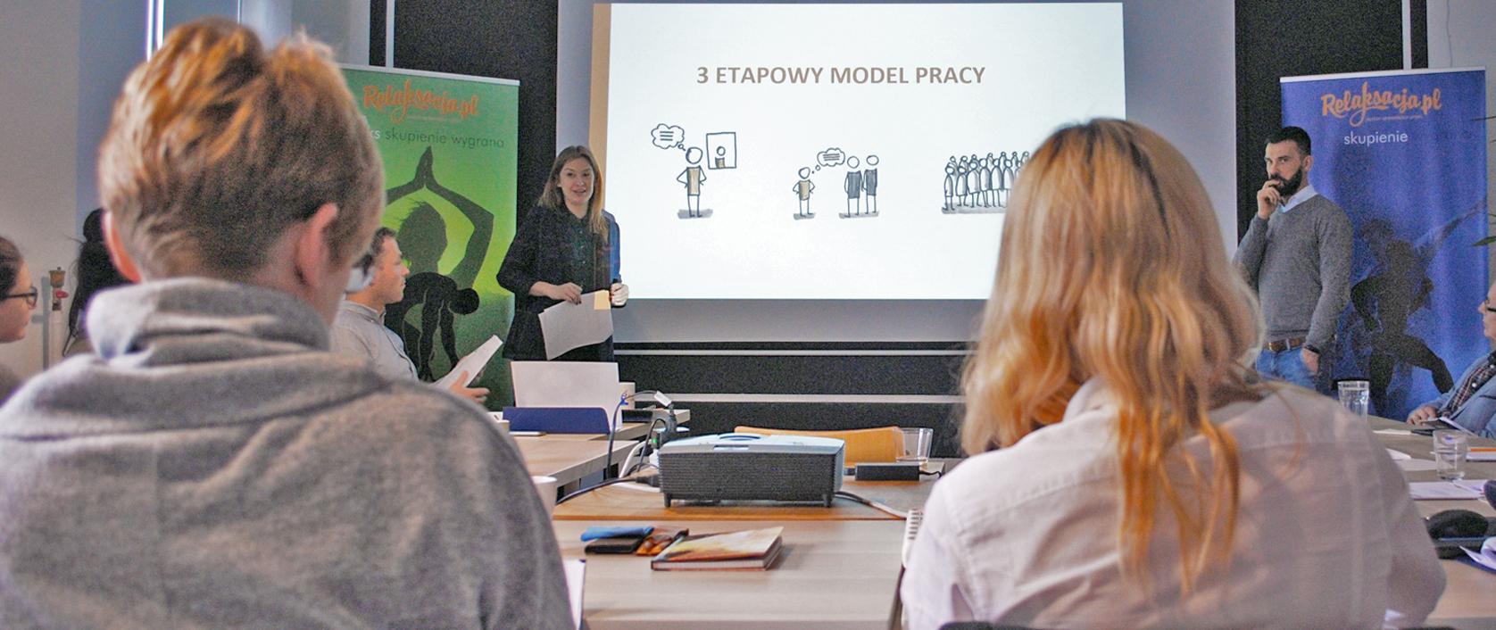 Paweł Habrat i Anna Ussowska na szkoleniu z biofeedback HRV