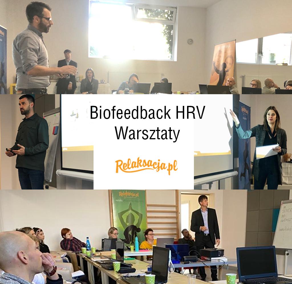 Warsztaty szkoleniowe biofeedback HRV prowadzone przez Marka Jacenko, Annę Ussorowską i Pawła Habrata.
